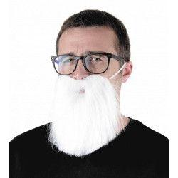 Barbe hipster blanche adulte Accessoires de fête 862212W