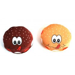 Jouets et kermesse, Lot 24 peluches hamburger 10 cm, 78778-LOT, 0,66 €