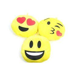 Jouets et kermesse, Peluche coussin jaune bonhomme sourire 21 cm, 78761, 1,40€