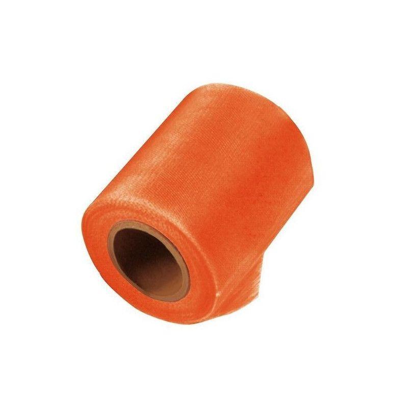 Rouleau de tulle orange 20 m Déco festive 1700025-ORANGE