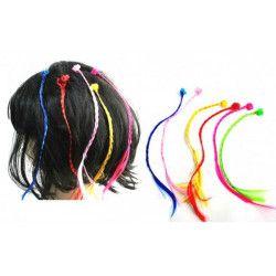 Mèche cheveux avec clip vendue par 48 Accessoires de fête 31957-LOT