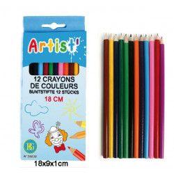 Jouets et kermesse, Lot 12 paquets de 12 crayons de couleurs, 39038-LOT, 0,90€
