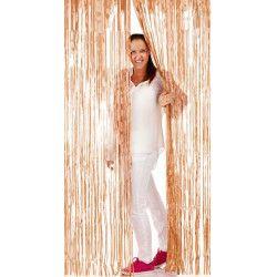 Déco festive, Rideau de porte lamelles métallisées 2 m or rosé, 09215, 6,80€