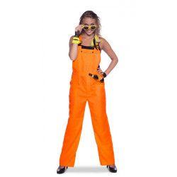 Déguisement salopette néon orange adulte Déguisements 6407-