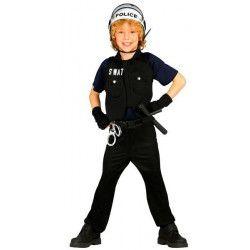 Déguisements, Déguisement policier swat enfant 5-6 ans, 85647, 19,90€