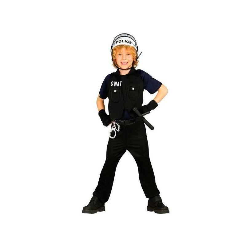 Déguisements, Déguisement policier swat enfant 7-9 ans, 85648, 19,90€