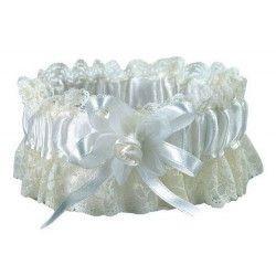Accessoires de fête, Jarretière en satin ivoire mariage, 1700054-I, 3,90€