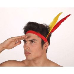 Bandeau indien avec plumes Accessoires de fête 69707