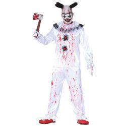 Déguisement clown assassin blanc homme taille L Déguisements 88364