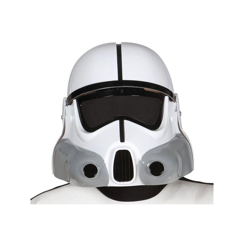Casque blanc soldat de la galaxie adulte Accessoires de fête 13693