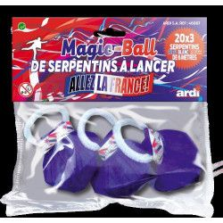 Magic ball de serpentins bleu blanc rouge x 3 Déco festive 46007