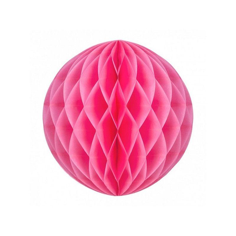Boule alvéolée néon rose 12 cm Déco festive 50230S