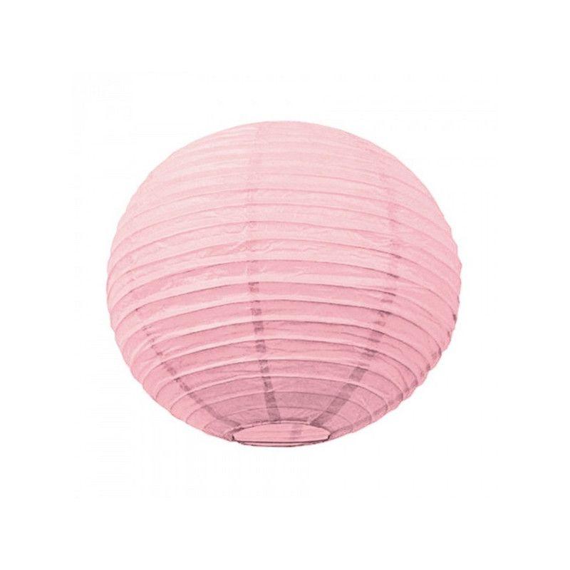 Lanterne japonaise rose dragée 35 cm Déco festive 50211M