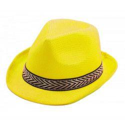 Accessoires de fête, Borsalino jaune adulte, 87336, 1,90€
