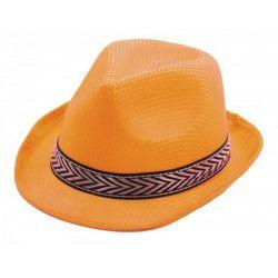 Accessoires de fête, Borsalino orange adulte, 87338, 1,90€