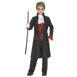 Déguisement Dracula rouge et noir garçon 7-9 ans Déguisements 87432