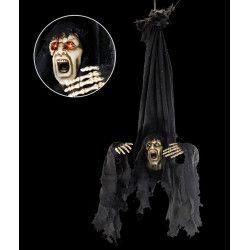 Déco festive, Zombie horreur à suspendre avec yeux lumineux, 8882, 39,90€