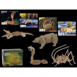 Jouets et kermesse, Puzzle en bois animaux sauvages 3D, 76-6046, 2,80€