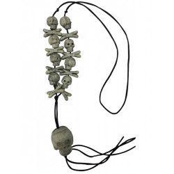 Collier têtes de squelette et ossements 56 cm Accessoires de fête 72535