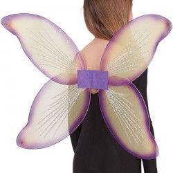 Accessoires de fête, Ailes de papillon jaunes et violettes, 06308-CAR, 6,90€