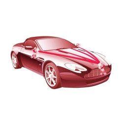 Déco festive, Kit de voiture 5 pièces rouge mariage, 1401-02, 6,90€