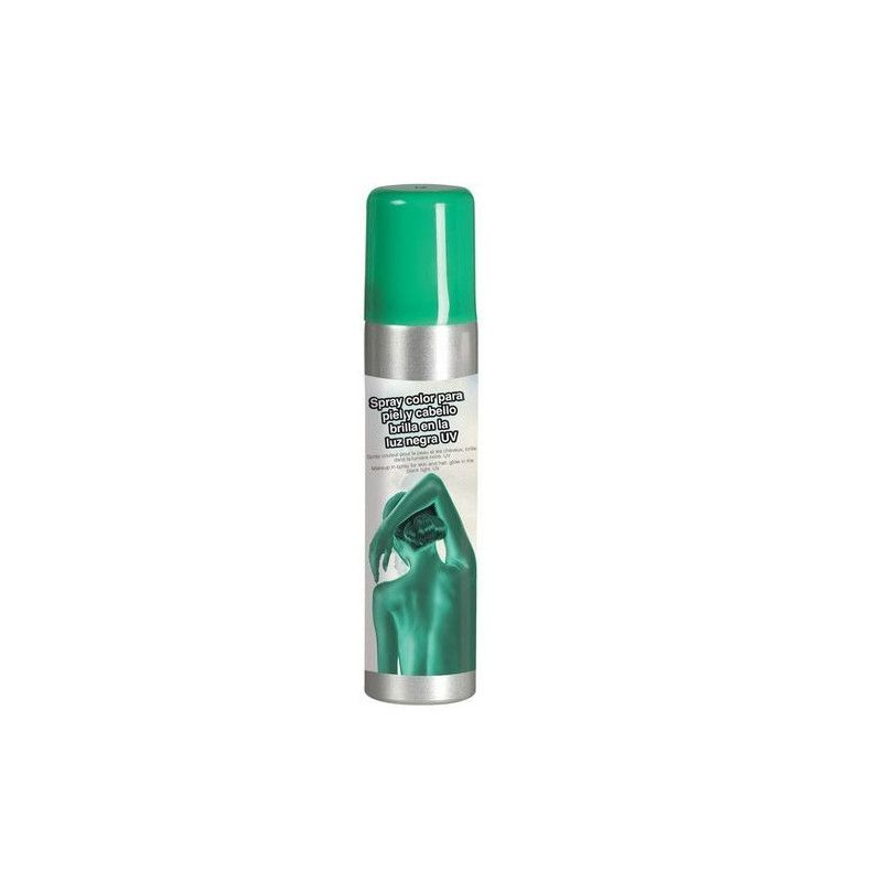 Spray vert pour le corps 75 ml Accessoires de fête 17127GUIRCA