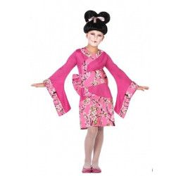 Déguisements, Déguisement geisha rose fille, 56817-, 24,50€