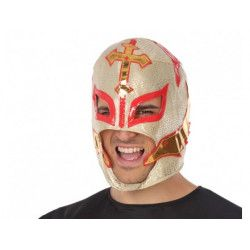 Accessoires de fête, Masque lutteur ou catcheur mexicain or, 34946, 6,90€