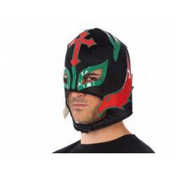 Accessoires de fête, Masque lutteur ou catcheur mexicain noir, 34949, 6,90€