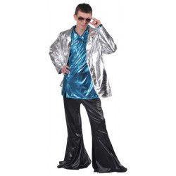Veste adulte luxe disco argent homme Déguisements 16662