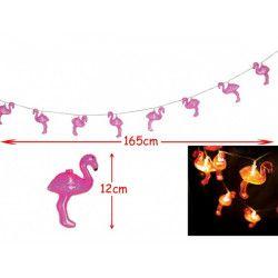 Guirlande lumineuse 10 leds flamant rose Déco festive 10206