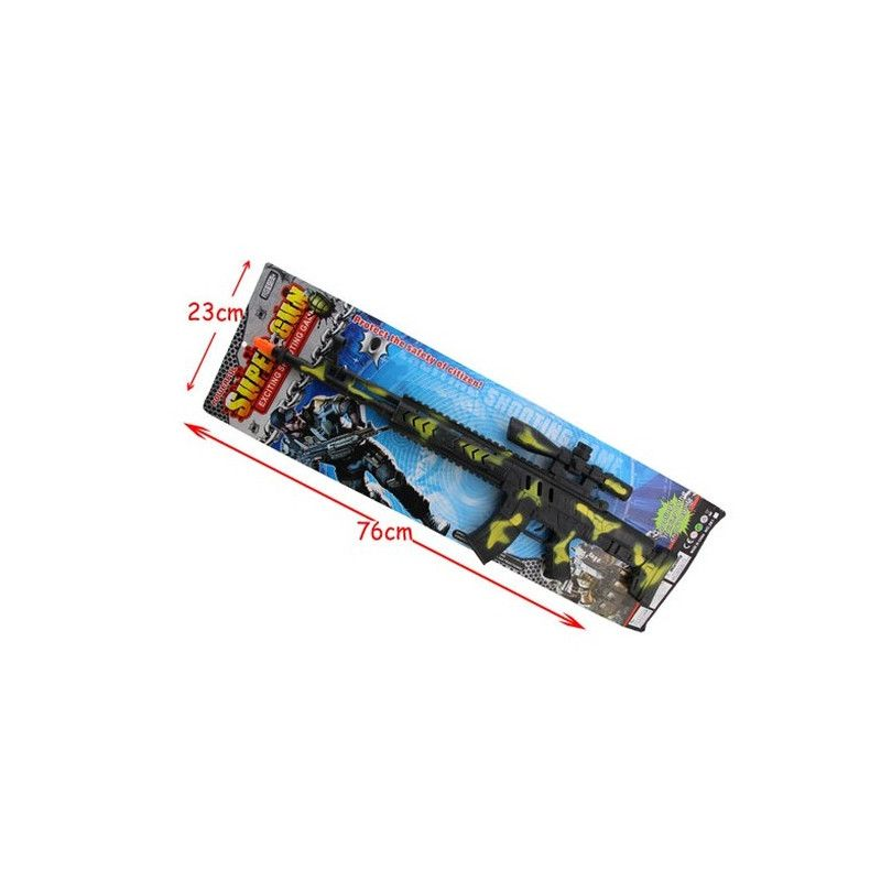 Mitraillette plastique noire et or 67 cm Jouets et articles kermesse 30078