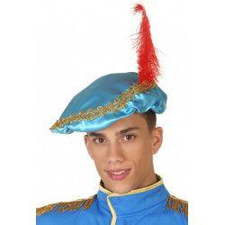 Coiffe prince médiéval bleue Accessoires de fête 37936