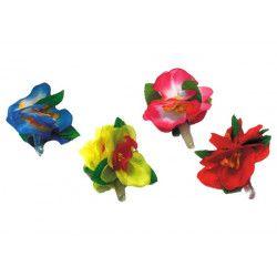 Barrette à cheveux fleur hawaï Accessoires de fête 8650920