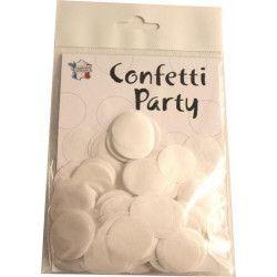 Déco festive, Sachet 15 grammes confettis 2.5 cm - Blanc, 22605BL, 2,90€