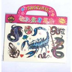 Jouets et kermesse, Lot de 20 tatoos 15 x 16 cm, 64911-LOT, 0,22 €