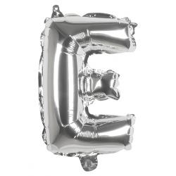 Déco festive, Ballon aluminium argent 36 cm - lettre E, 22104, 0,99€