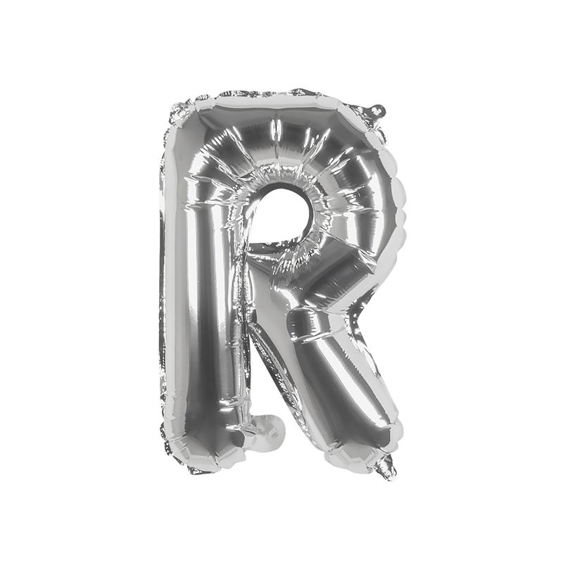 Ballon aluminium argent 36 cm lettre R Déco festive 22117BO
