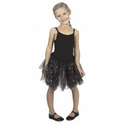 Tutu noir fée avec étoiles taille 6-8 ans Accessoires de fête 3332016
