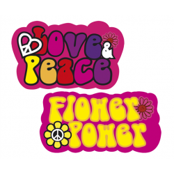 Déco festive, Décoration peace and love en carton x 2, 44506, 3,40 €