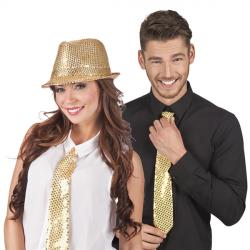 Cravate sequin or Accessoires de fête 52951