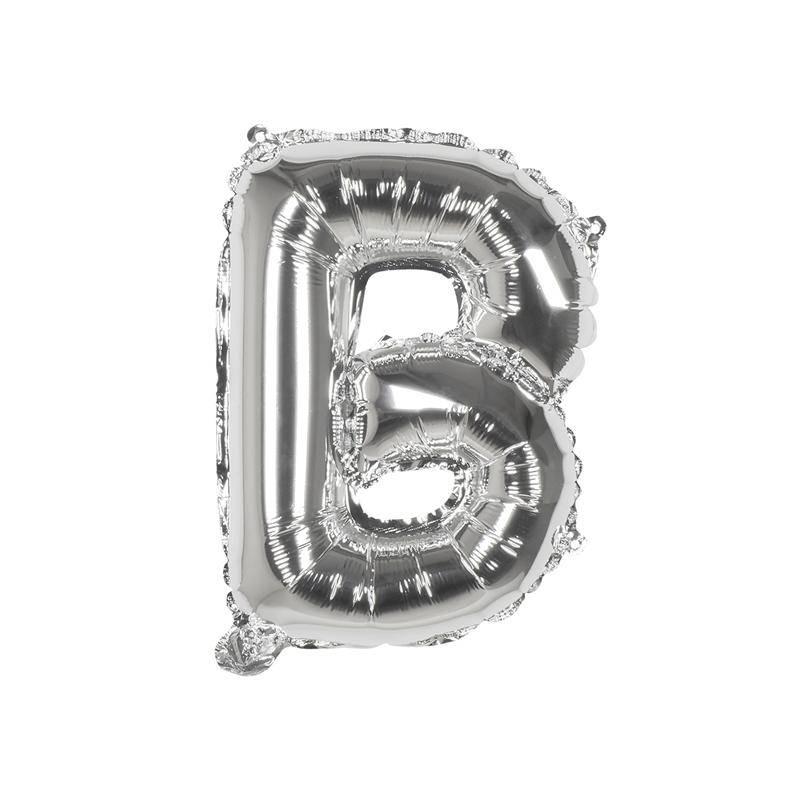 Ballon aluminium argent 36 cm - lettre B Déco festive BO22101