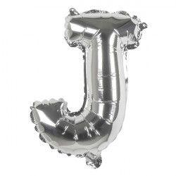 Ballon aluminium argent 36 cm - lettre J Déco festive 22109