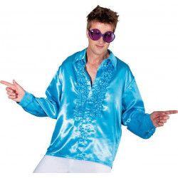 Déguisements, Chemise disco bleue adulte taille XL, C4033T54, 14,90€