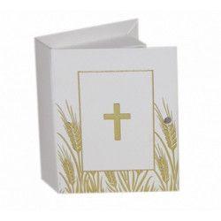 Boite dragées bible communion 7 cm x 10 Déco festive 1017479