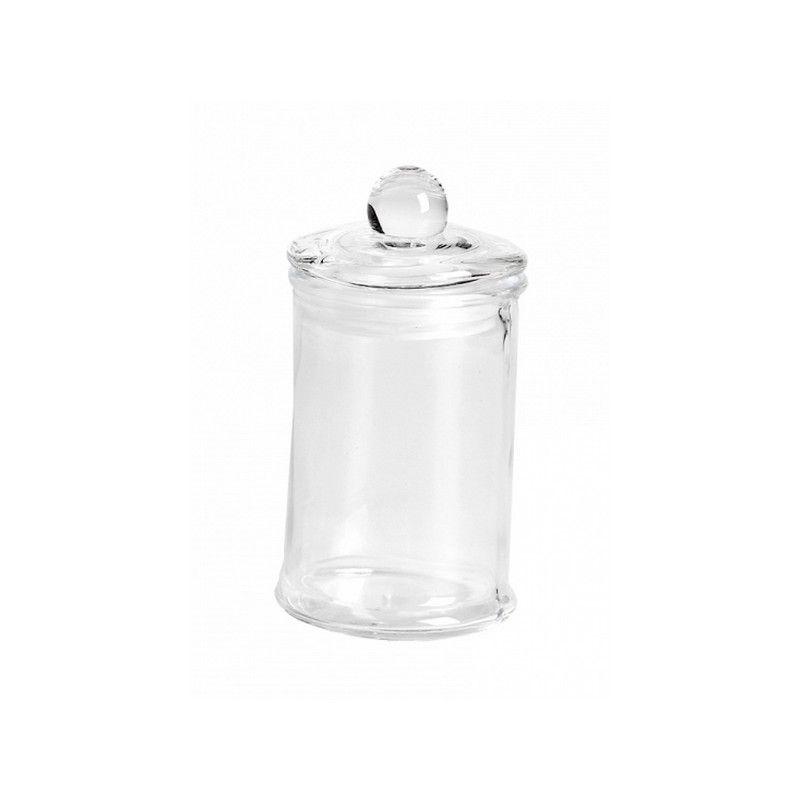 Bonbonnière droite en verre transparent 10 cm Déco festive 15473