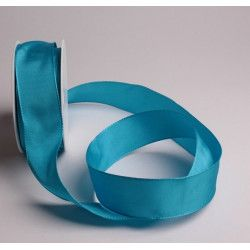 Déco festive, Ruban laitonné 25 m x 38 mm - turquoise, 62945, 12,90€