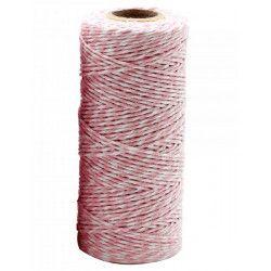 Rouleau ficelle Twine 100 mètres - rose clair Déco festive 71859BACOMA