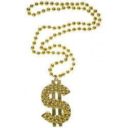 Collier dollar 50 cm Accessoires de fête 0505