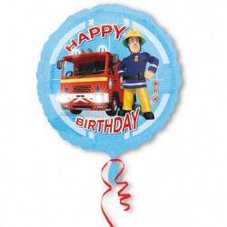 Ballon hélium Sam le pompier Happy Birthday 43 cm Déco festive 3013201